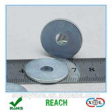 Zink-Beschichtung N40 Grade NdFeb Ringmagnet