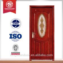 Guangzhou design de porta de vidro de madeira, mdf para porta de interiores