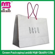 print your slogan creative printed white kraft paper bag