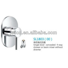 Single lever concealed 4-way shower or basin mixer without diverter