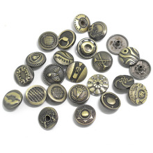 High Quality 17mm Accessories And Rivets Custom Logo Metal Tack Jeans Snap Button For Jeans