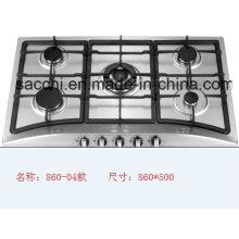 Five Burner Sabaf Stainless Steel Gas Hob