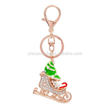 Wholesale Gift roller Christmas skate Shoe Keychain With Promotional
