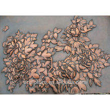 Copper Chinese custom wall relief for decoration