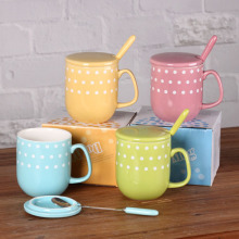 Colorida Polka Dot taza de café