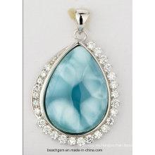 Esterlina de la joyería de plata Larimar colgante (LR00056)