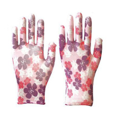 Wholesale Decorative Pattern/Color Nitrile Smooth Garden Work Gloves Customizable Half Coated Nitrile Industry Gloves