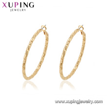 95108 Fashionable 18k gold plated jewelry European tide simple style hoop earrings for wholesale