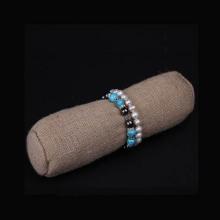 Wholesale coffee Linen Jewelry Roll (BT-LBS)