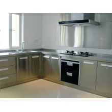 L Shape OEM China Stainless Steel Kitchen Cabinet