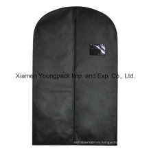 Custom Black Non-Woven Travel Suit Cover