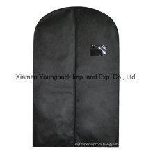Custom Black Non-Woven Travel Suit Cover