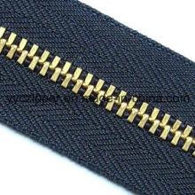 5# Y Teeth Brass Metal Zipper Long Chain Zipper