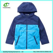 2016 jaqueta para crianças de cor azul de primavera