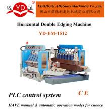 Suprimento da manufatura diferentes tamanho automático vidro linha reta afiação rodada dupla máquina