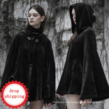 OPY-341PUNK RAVE women korea fashion winter coat dark  with hood college jacket women