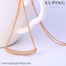 C204172-41847 Xuping moda de alta qualidade subiu colar de cor de ouro