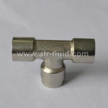 Brass Fittings Equal Tee Metric/BSPP Female Thread