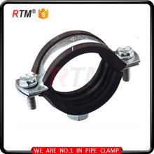 abrazadera de tubo de hierro fundido de todos los tamaños M8 resistente con goma