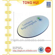 Oval Aluminium Pinsel Namensschild / Zubehör mit Druck Logo