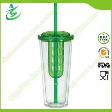 20-дюймовый пластиковый инфузионный стакан с соломой и крышкой