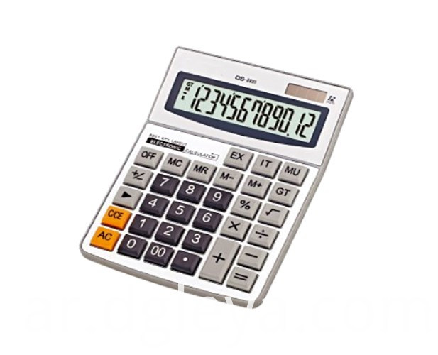 An Digit Desktop Electronic Calculator