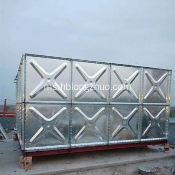 Tangki Air Bertingkat Galvanized Steel Water Sectional Tank