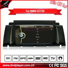 Windows Ce GPS Navigation Lecteur DVD pour BMW X3 F25 avec Vidéo Hualingan