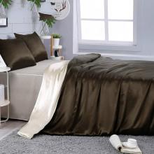 Silk Bedding Set 4pcs Duvet Cover Sheet Pillowcases