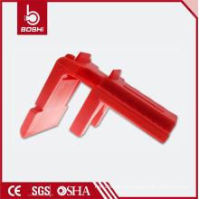 Bloqueio de válvula de esfera ajustável de plástico PP (BD-F05 ~ F07) apropriado para tubos de 13mm - 70mm, bloqueio de segurança BD-F05