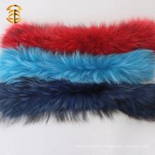 Collier en fourrure de raccoon coloré en vraie en Chine personnalisé
