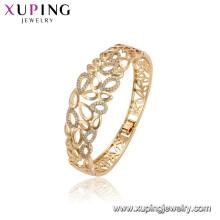 52166 xuping brazaletes grandes de la manera del cobre ambiental del color oro 18K