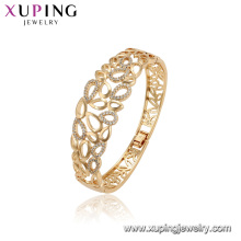 52166 xuping 18K gold color environmental copper fashion big bangles