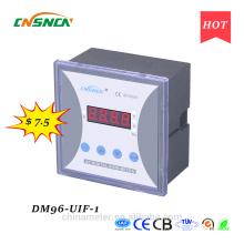 Размер панели DM96-UIF-1 96 * 96 мм однофазный переменного тока с одним промышленным использованием цифровой вольт ампер и герц комбинированный счетчик