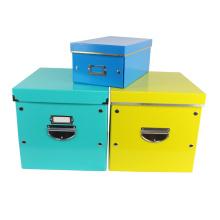 APEX Portable Foldable Cardboard Storage Box With Lid