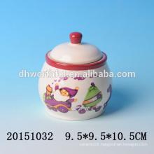 Lovely ceramic Christmas condiment jars