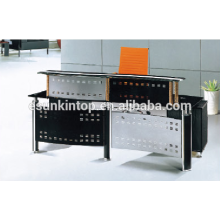 Temper glass reception desk for office , Foshan office furniture manufacturer, Sell office furniture (P6001)
