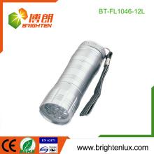 Taille de poche personnalisée à l'usine 3 * AAA Dry Battery Powered Aluminium Chinese Best 12 led Lampes de poche en gros
