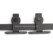 T Shape Modern Black Sliding Track Kit