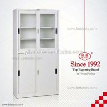 1800mm Glasschiebetürlabor-Stahllagerschränke für Verkauf