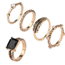 Wholesale African Fashion Jewelry Big Ring Set Ring In 18k Gold