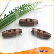 Bouton Toggle en bois naturel naturel pour vêtements BN8110