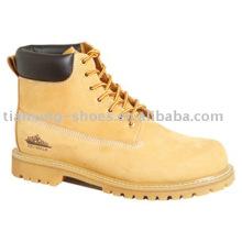 Bottes d'orteil en nubuck de blé (TX090)