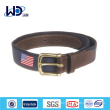 Men's Club Belts New American Flags Canvas Belts
