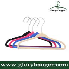Gancho de roupa de borracha de alta qualidade, antiderrapante, molhado e seco de dupla utilização