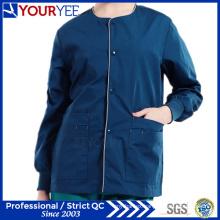 Affordable Hospital Warm Up Snap Front Scrub Jacket Coat (YHS115)