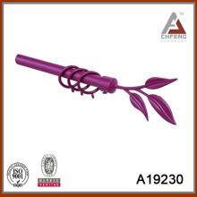 A19230 conjunto decorativo de la barra de la cortina, barra de la cortina del metal doble, finial de la barra de la cortina de aluminio