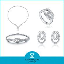 2016 Newest Crystal Charm Bracelet Jewelry Set (J-0048)