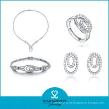 2016 nuevos diseños joyería de lujo nupcial para casarse (J-0048)