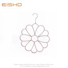 Flower Shape Flocked Velvet Scarf Hanger